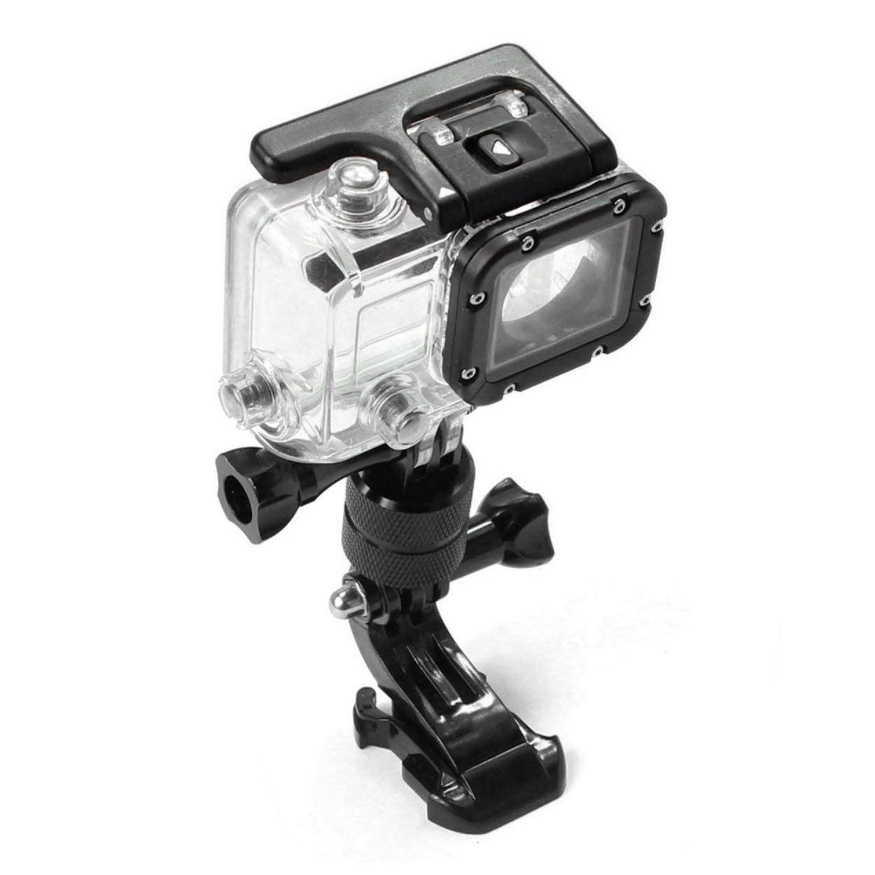 Flexible 360 Degree Rotating Swivel Arm Mount Adapter Pivot Arm for GoPro 5//4// 3 Aluminum Alloy Fixed Base Rotation Arm