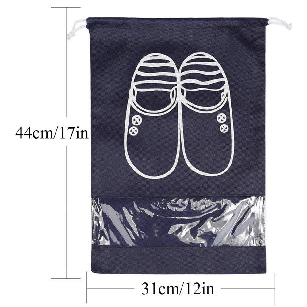 TOOGOO 5 PCS Travel Shoes Bag Finishing Bag Anti-Dust Shoes Storage Bag Pouch L