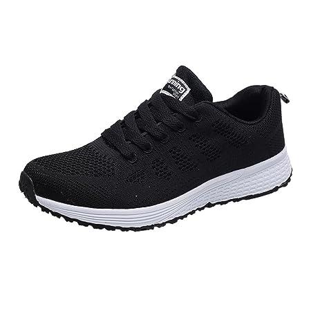 BBestseller-Zapatos Zapatillas Planas para Mujer Casuales Cabeza Sandalias para Mujer Zapatos con Cordones Zapatos Deportivos Sneakers Running Zapatos: ...