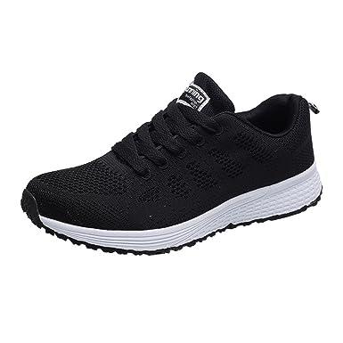 ZODOF Hombre Zapatillas de Correr Malla Color de Hechizo Casual Calzado de Deporte Transpirables Zapatos con Cordones Moda Bambas de Running: Amazon.es: ...