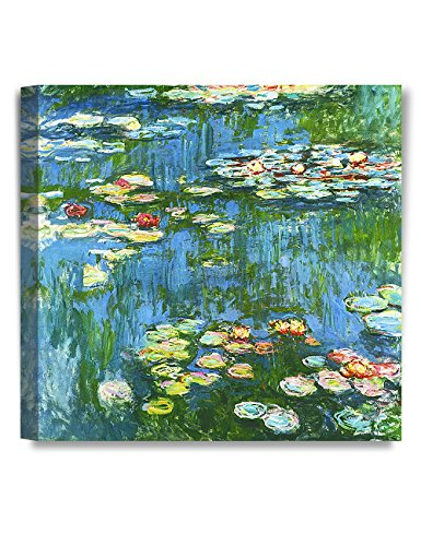 DECORARTS - Water Lily Pond 1914, Claude Monet Art Reproduction. Giclee Canvas Prints Wall Art for Home Decor 20x20 (Canvas Art Print Deco)