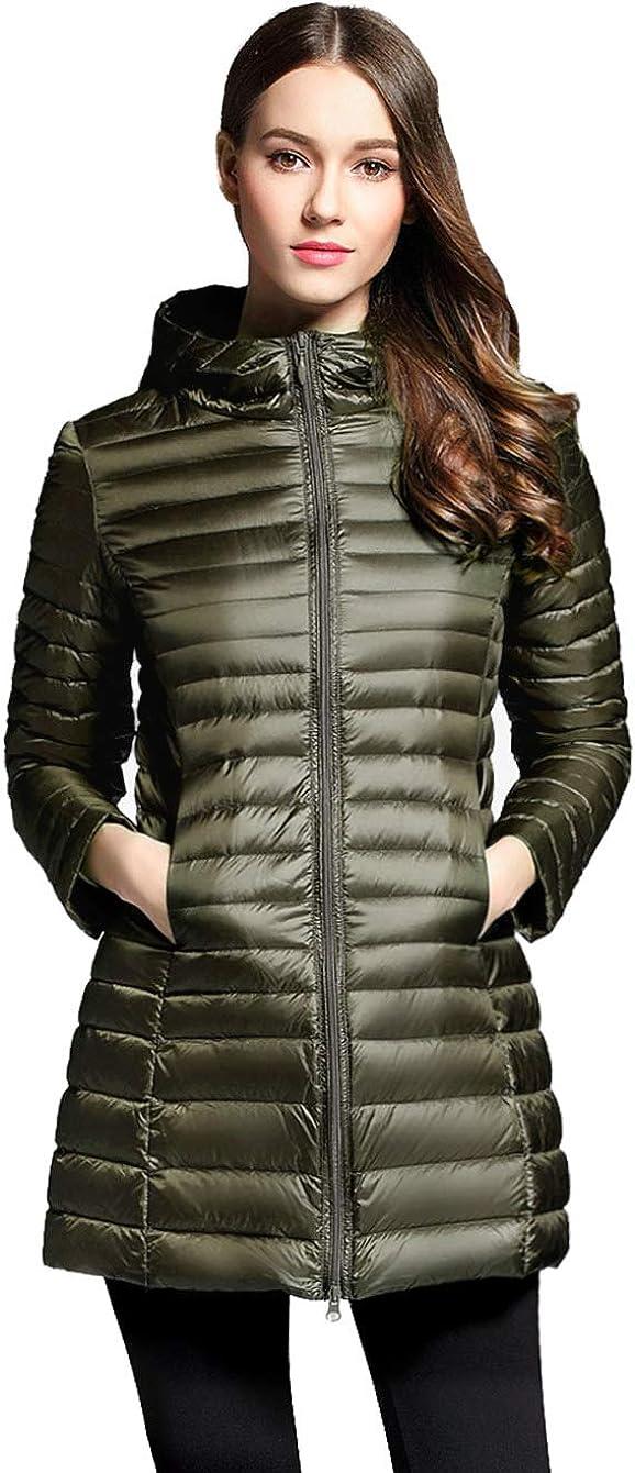 Hajotrawa Mens Stand Collar Puffer Lightweight Packable Winter Down Coat Jacket