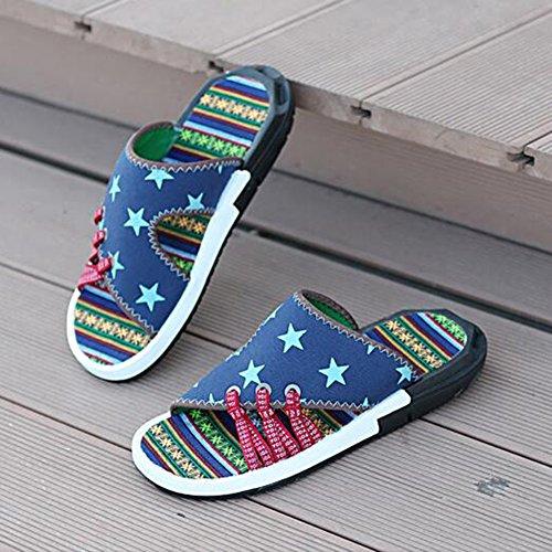 T2 EU40 Tendenza Uomini Pantofole QIDI dimensioni Scarpe Panno Da Sandali Antiscivolo In UK7 T2 Gomma Estate Colore Spiaggia qZO4v