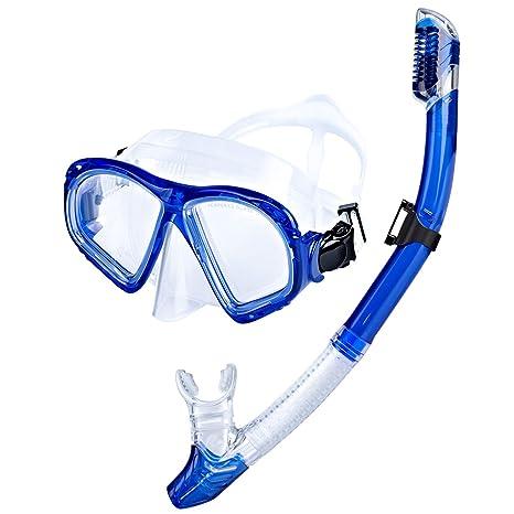 50f80f9c1b8af Sporzin Schnorchelset Erwachsene mit Dry Schnorchel und Taucherbrille-Anti-Beschlag  Schnorchelset und Snorkeling Set