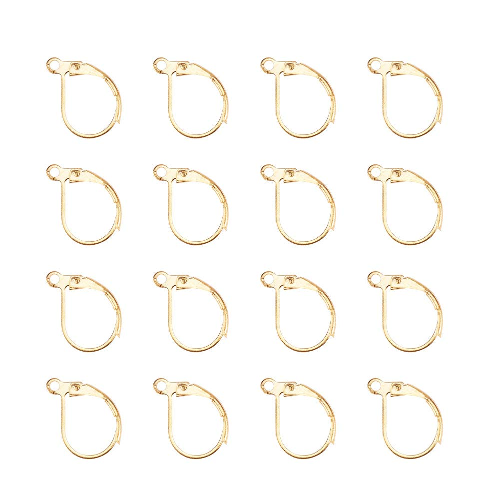 Pandahall Elite 50 Pcs 304 Stainless Steel Earring Hooks Components for Jewelry Making Findings 20x19x3mm PH PandaHall