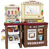 おままごとキッチンセット 親子遊び おもちゃ シミュレーションの厨房のおもちゃ キッチンセット 調理器具 食器 野菜 組立式 70点セット ブラウン
