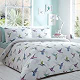 Home Collection Basics White Hummingbird Bedding Set Single by Debenhams