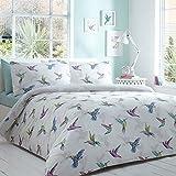 Home Collection Basics White Hummingbird Bedding Set Single by Debenhams