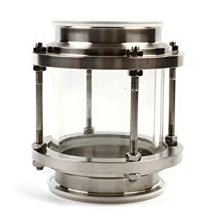 CNCEST in-Line Sight Glass with SUS 304 Tri Clamp Type Industrial Flow Sanitary Glass Quick-Install Equipment for Brewery Beverage Industry 4