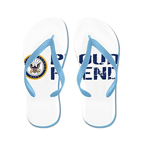 cff5abc15 CafePress - U.S. Navy  Proud Friend (Blue   White) - Flip Flops