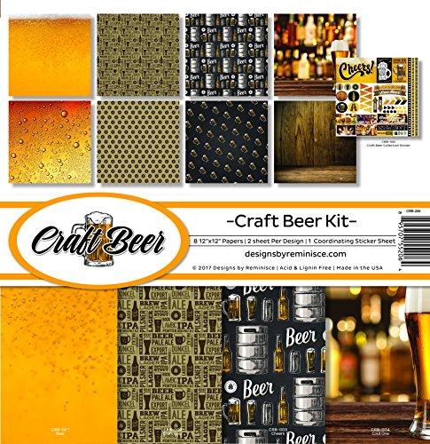 Scrapbook Friends Paper - Reminisce Craft Beer Scrapbook Collection Kit