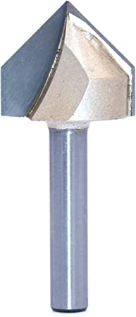 """Woodworking Tool 1//2/"""" x 7//8/"""" V Type Slotting Cutter Router Grooving Bit"""