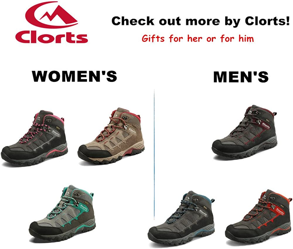 Clorts Womens Suede Uneebtex Mid Waterproof Hiking Boot Outdoor Backpacking Shoe HKM822