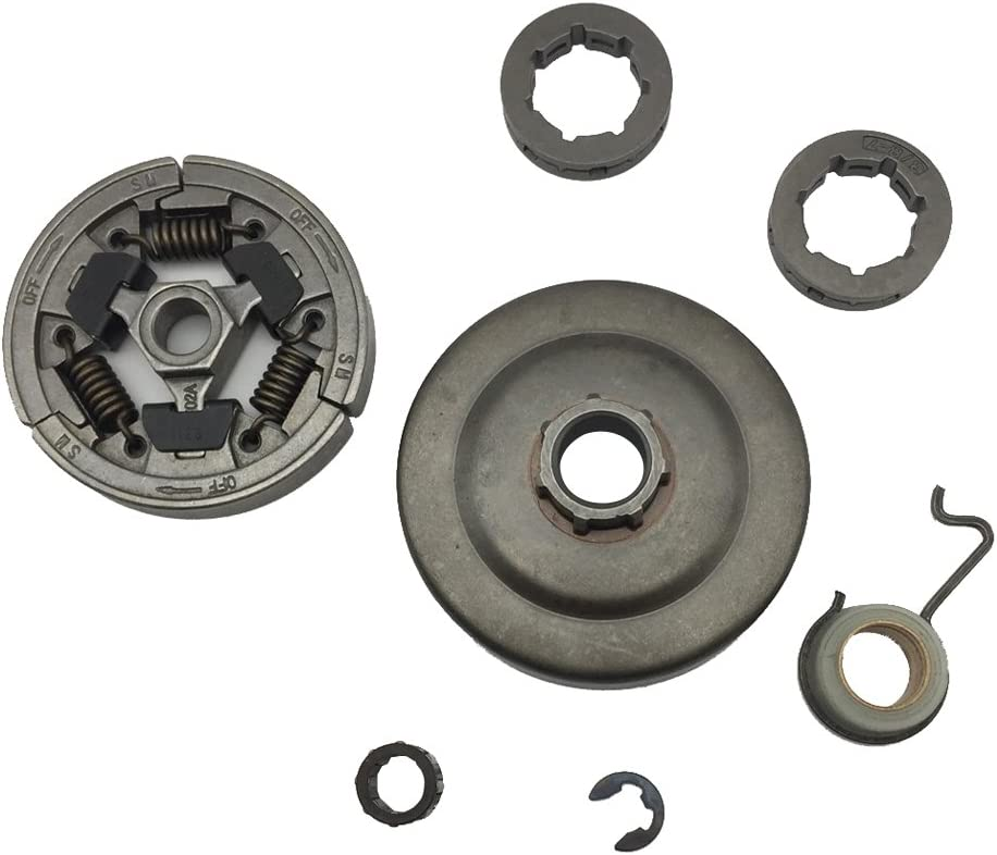 STIHL OEM USED CLUTCH DRUM WASHER /& E CLIP FOR 029 039 MS290 MS310 MS390