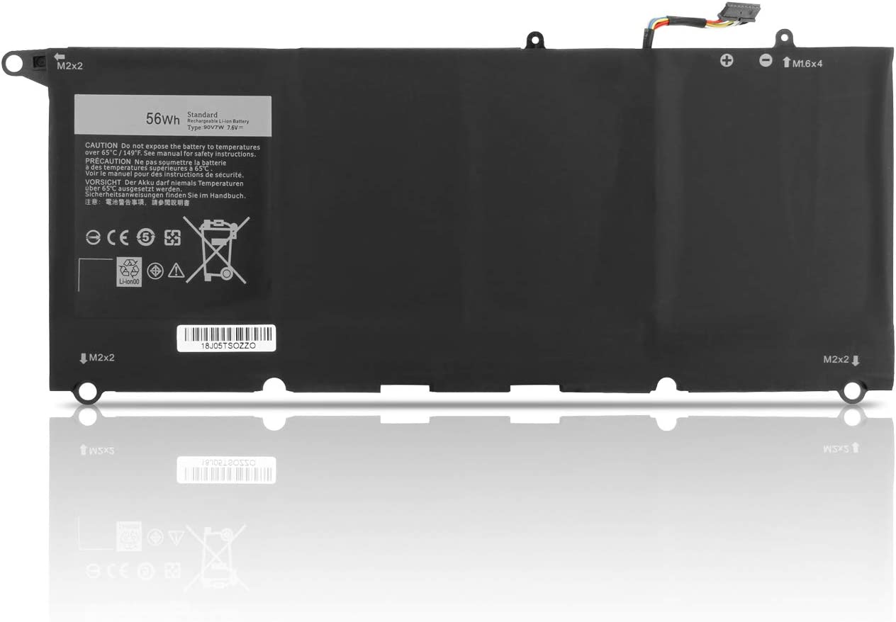Dentsing 7.4V 52Wh/6930mAh 4-Cell JD25G / 90V7W Laptop Battery Replace for Dell XPS13 XPS 13 9343 9350 1708 XPS 13D-9343-1708 Series Notebook 0N7T6