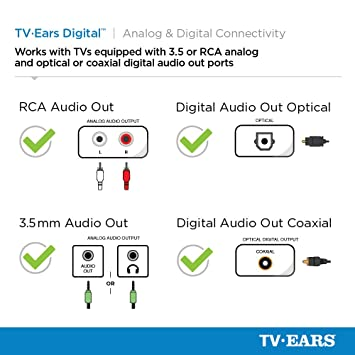amazon com tv ears digital wireless headset system connects to rh amazon com Home Cable Wiring Diagram Direct TV Wiring Schematic