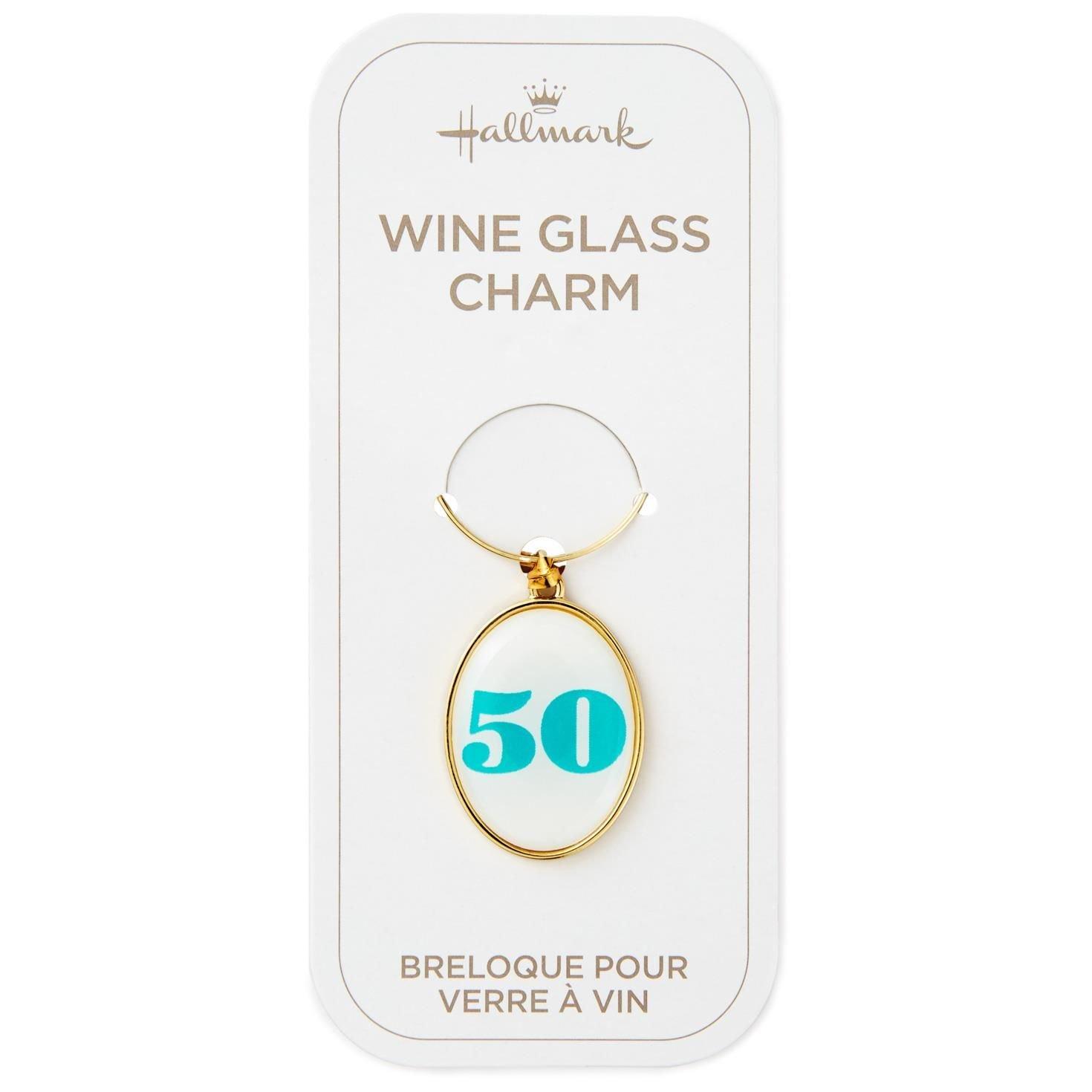 50th Birthday Wine Charm Kitchen Accessories Milestones