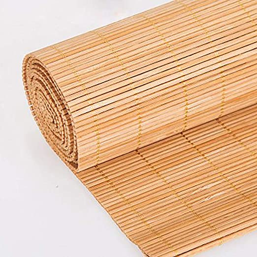 Amazon Co Jp Light Filtering Roll Up Blinds Sun Shade Bamboo Roller Shades Natural Roll Up Shade For Windows Doors Multi Size Thick Bamboo Silk Home Kitchen