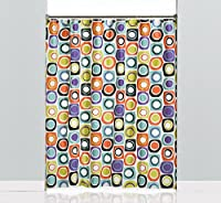 Saturday Knight Squares and Dots Peva Shower Curtain, Multicolor