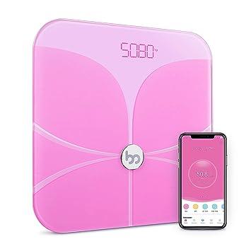 Femometer - Bascula Grasa Corporal, Bascula baño analisis Corporal, Peso Digital Inteligente, Balanza Baño con Bluetooth & App, bioimpedancia, ...