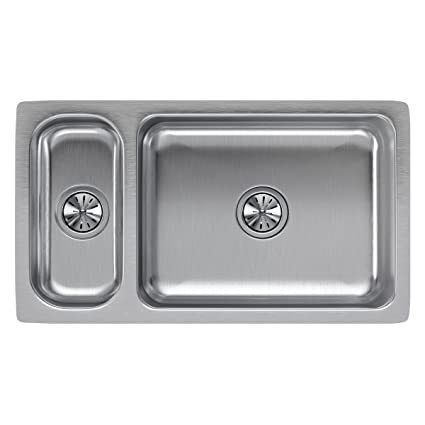Double Bowl Undermount Stainless Steel Kitchen Sink Elkay lustertone eluh3219 3070 double bowl undermount stainless elkay lustertone eluh3219 3070 double bowl undermount stainless steel kitchen sink workwithnaturefo