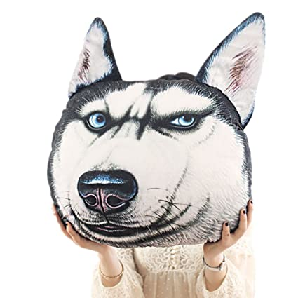 KT Siberian Husky Stuffed Dog Throw Pillow Decorative Gift KKT