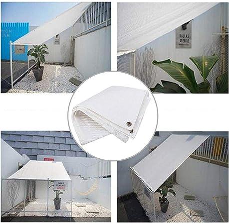 Paneles de Tela de Sombra Toldo Vela Outdoor Garden Patio Party Vela de Sombra Blanca 98% UV Sunscreen Toldo Crema Cuadrada Con Cuerda Libre para Cubierta Pérgola Toldo Protección Plantas Cubierta Aut: