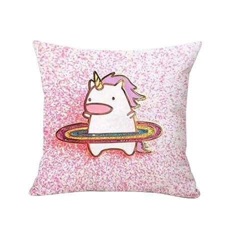 Puran - Funda de cojín con Estampado de Unicornio para sofá ...