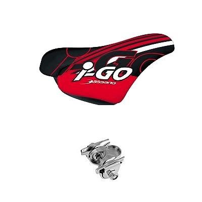 sillin de enfant fille selle Bassano i-go ergonomique avec noix rouge vélo 3962rj