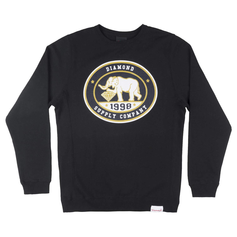 Diamond Supply Co Mens Pushing Jewels Crew Neck Sweater Black, X-Large