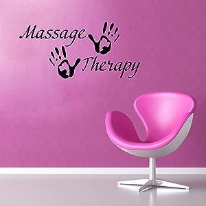 Wall Decor Massage Therapy Vinyl Decal Spa Shop Interior Signboard Wall Sticker Health Beauty Salon Glass Case Symbol Mural Print Business Poste