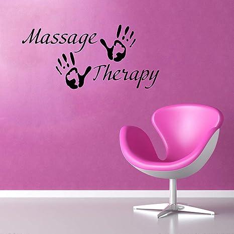 Massage Therapy Vinyl Decal Spa Shop Interior Signboard Wall Sticker Health Beauty Salon Glass Case Symbol Mural Print Business Poster Decor