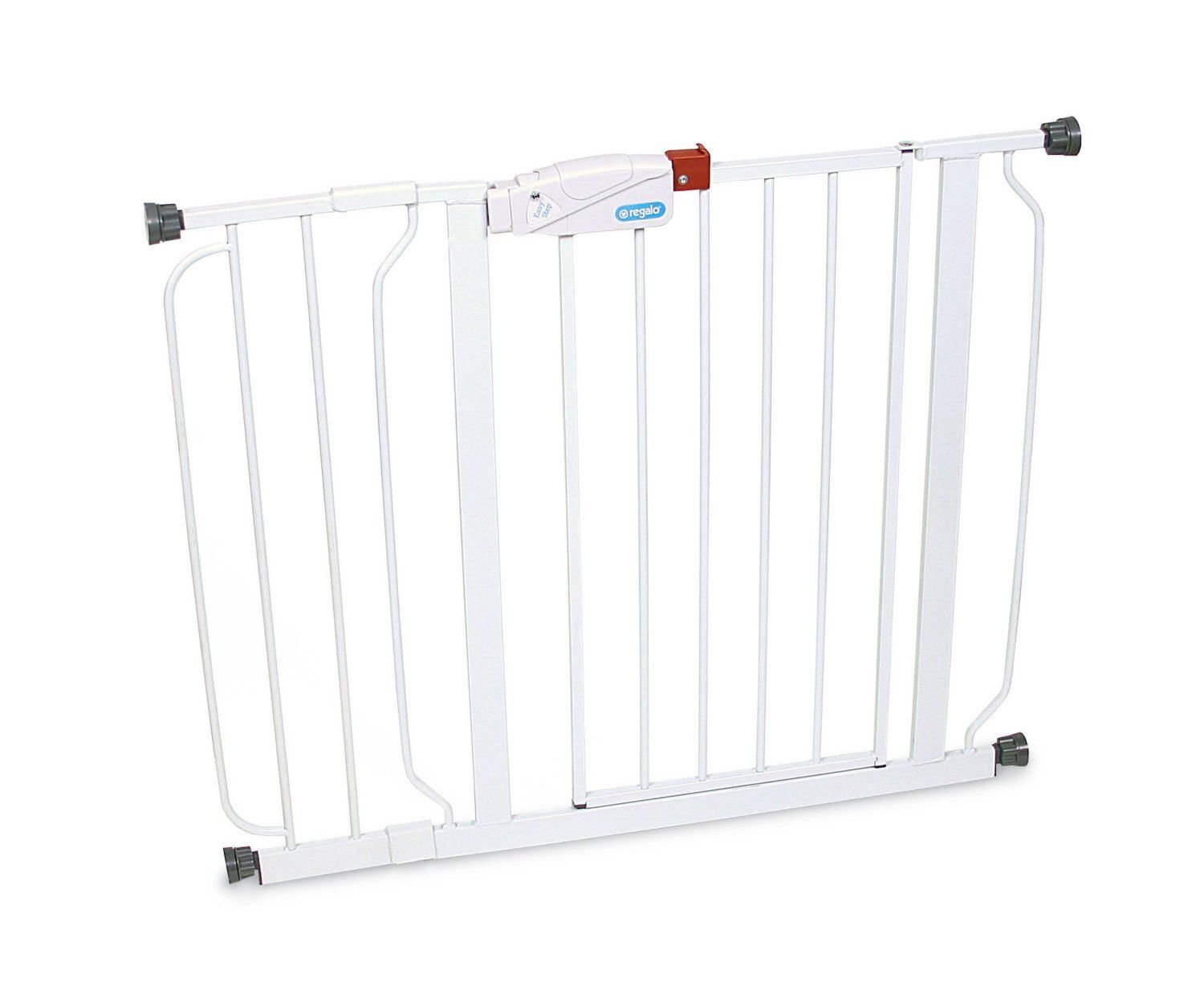 "Regalo Easy Step Extra Wide Black 51/"" Infant Baby Gate Toddler Pet Safety Fence"