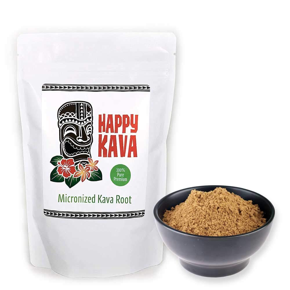 Happy Kava High Potency Gourmet Instant Micronized Kava Root Extract (10-12% Kavalactones) | Potent Maximum Power Organic Supplement Drink | Provides Mind and Body Balance, Clarity for Men Women Adult