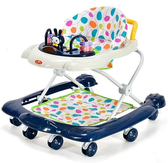 YOLL Anti-O-Leg Baby Walker,Height-Adjustable Baby Walker,2 in 1 Baby Walker, with Brake Folding,Anti-Rollover Baby Walker,for Girls Boys 6-18 Months Toddler
