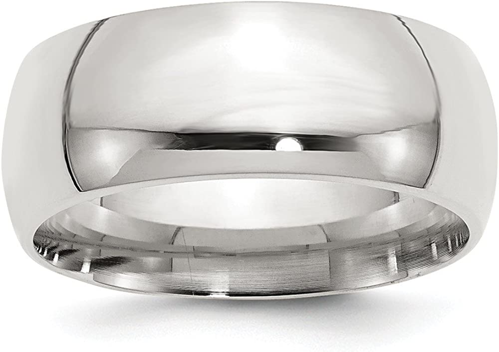 Wedding Bands Classic Bands Domed Bands Sterling Silver 9mm Comfort Fit Band Size 10
