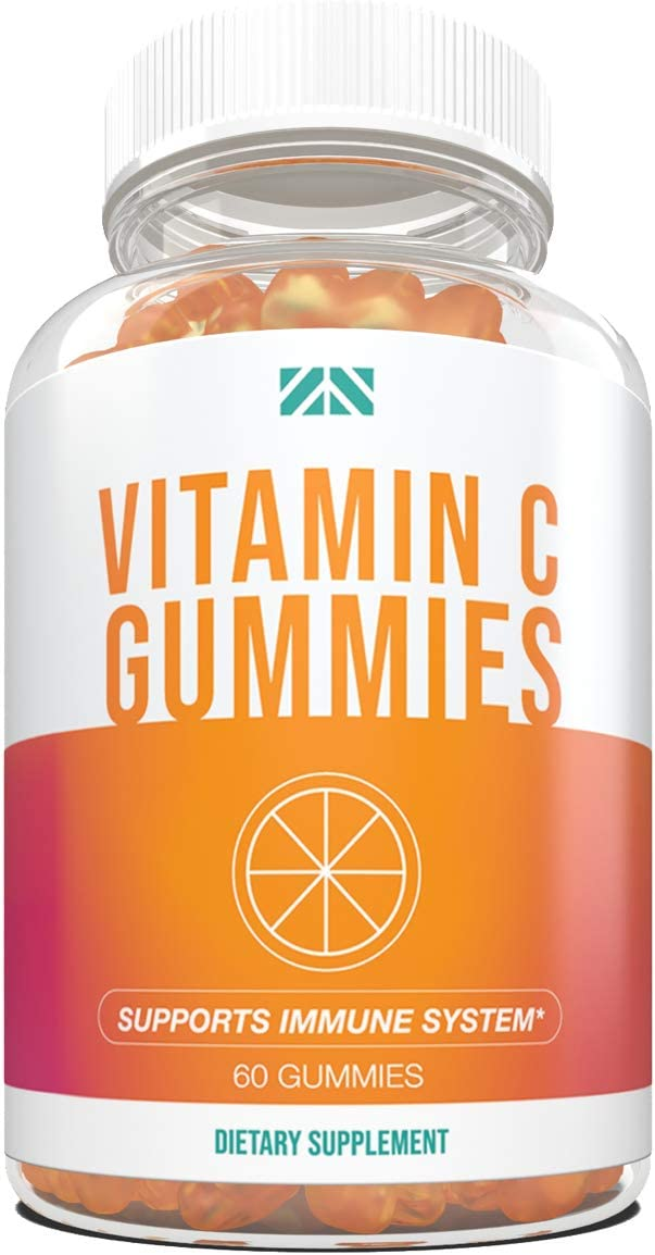Vitamin C Gummies for Adults and Kids - Immune Support - Chewable Vitamin C Gummy with Rosehips and Vitamin A - Revitalize and Repair - 60 Gummies