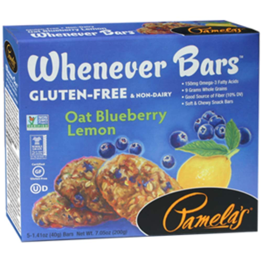 Pamelas Products Oat Blueberry Lemon Bar - 5 per pack - 6 packs per case. by Pamela's Products