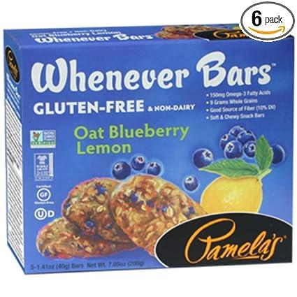 Productos pamelas Avena Limón Bar – 5 por pack de arándanos ...