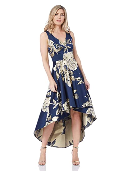 Roman Originals Women Jacquard Metallic Rose Gown Dress - Ladies Dresses and Ball Gowns for Christmas