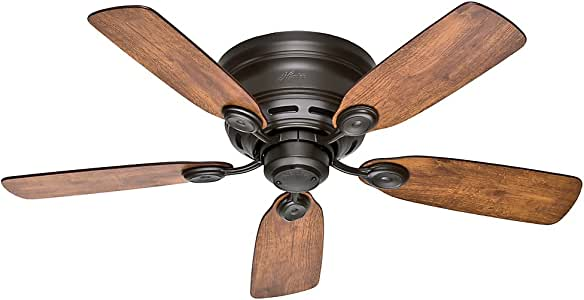 """Hunter Indoor Low Profile IV Ceiling Fan with Pull Chain Control, 42"""", New Bronze"""