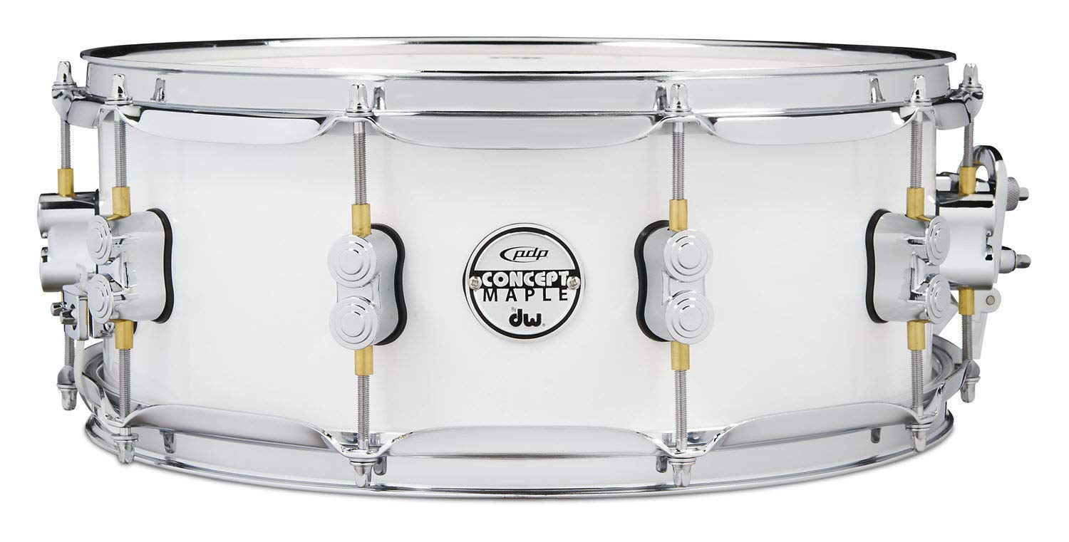 PDP 5.5'' x 14'' Concept Maple Snare Drum in Pearlescent White