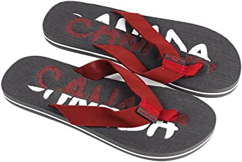 23615581c Robin Ruth - Charcoal Split Canada Press Men Flip Flop