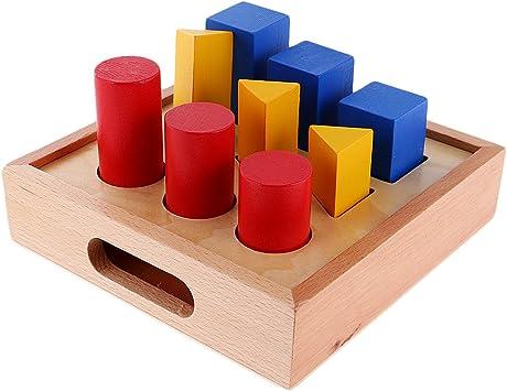 Montessori Material Geometría Montando Escalera Pilar Juguete de Matemáticas Aprendizaje: Amazon.es: Juguetes y juegos