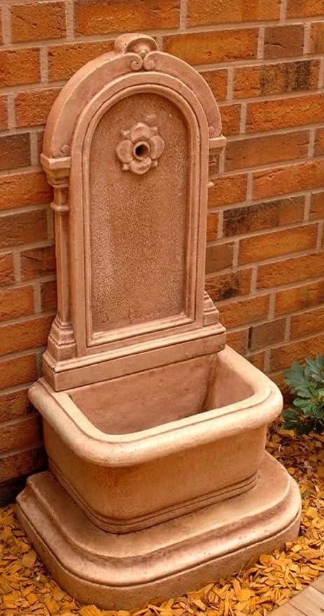 Casa Padrino Fuente de Pared Art Nouveau Crema Marrón Antiguo H. 113 cm - Fuente Fuente de Jardín Fuente de Piedra: Amazon.es: Hogar