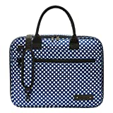 Beaumont BCB-BP Clarinet/Oboe Carry Case, Blue Polka Dot