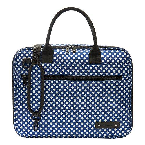 Beaumont BCB-BP Clarinet/Oboe Carry Case, Blue Polka Dot