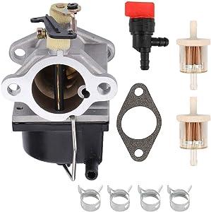 POEMQ 640065A Carburetor Replace Tecumseh 640065 Fits OHV110 OHV115 OHV120 OHV125 OHV130 OHV135 Engine with Gasket Fuel Filter Shut Off Valve Clamps