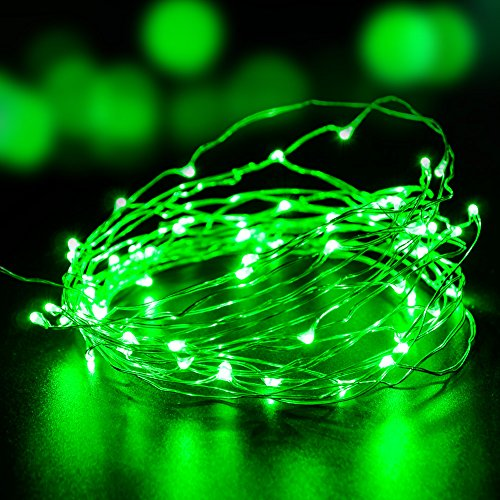 String Lights, VOLADOR 6m 60LED Waterproof Fairy Outdoor Decorative Lights 8 Modes Copper Wire Lights for Christmas Wedding Halloween Party DIY Decorations (Fairy Lights Green)