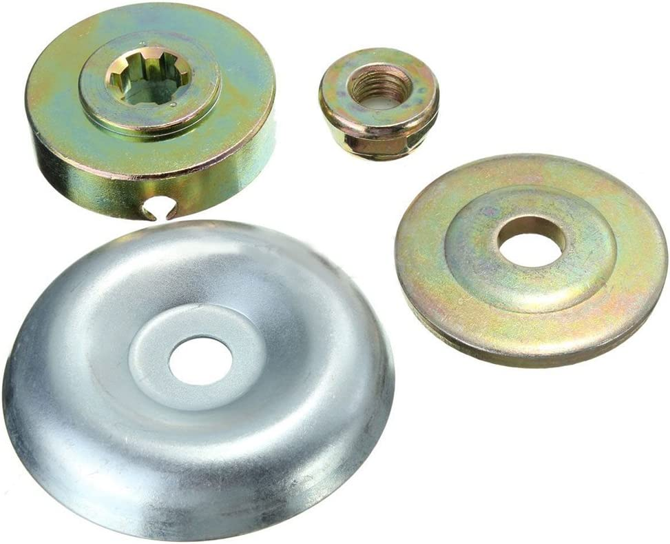 Kit de fijación de Tuercas de Metal para Caja de Cambios de cortacésped (4 Unidades) - Accesorios de Repuesto para Cubierta de Cuchilla de desbrozadora M10 LH para Cortador de Cepillo de desbrozadora